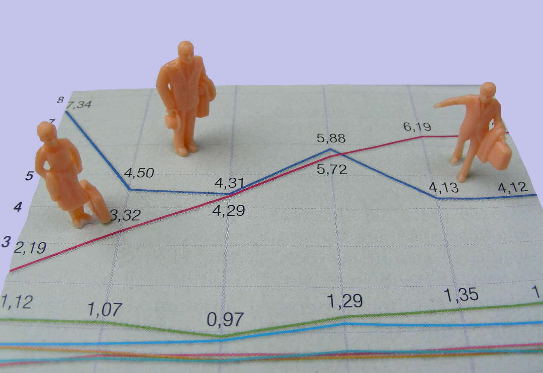 Geld | Diagramm Kursschwankung (c) S. Hofschlaeger / pixelio.de
