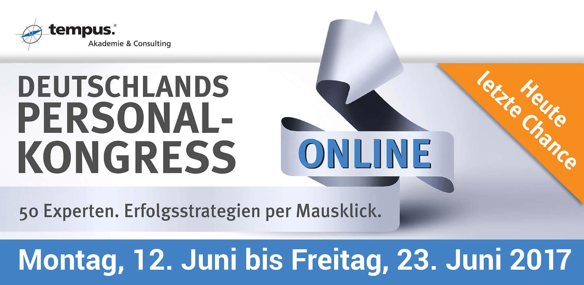 Deutschlands Personal-Kongress - Heute letzte Chance