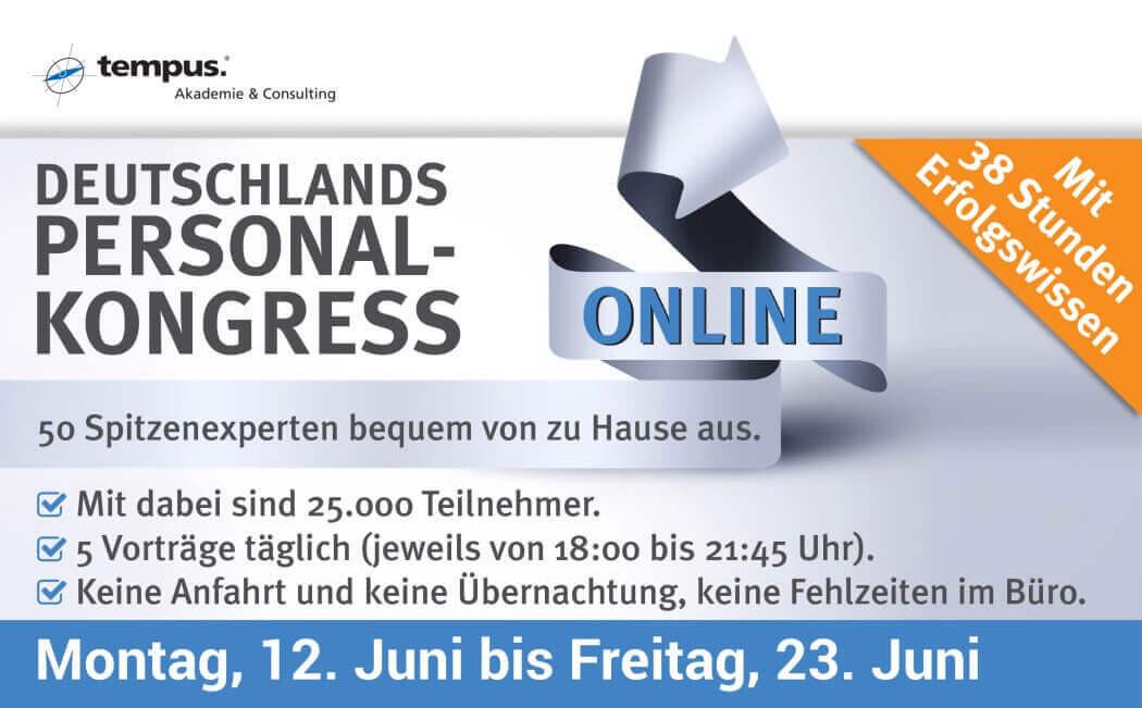Deutschlands Personal-Kongress - Mit 38 Stunden Erfolgswissen