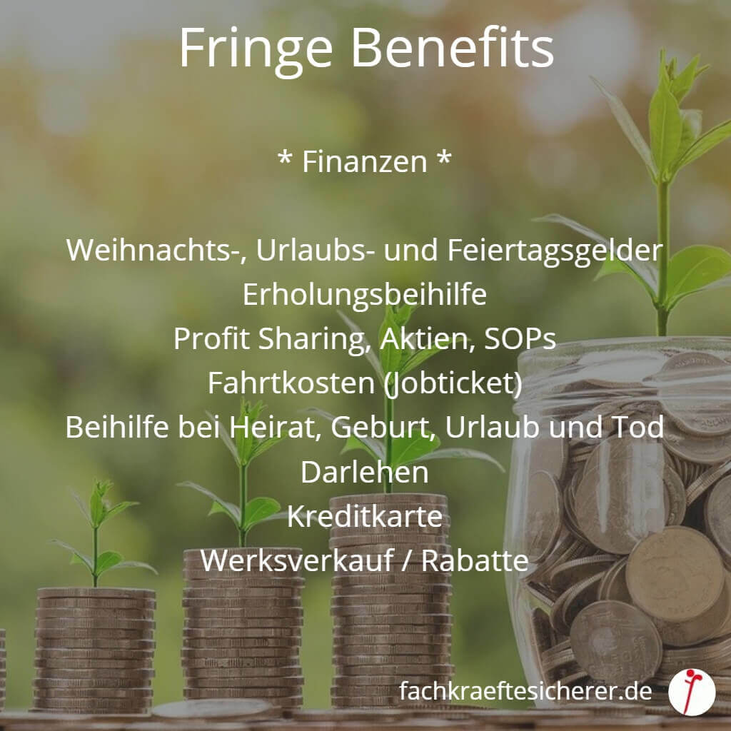 Beispiele Fringe Benefits Finanzen