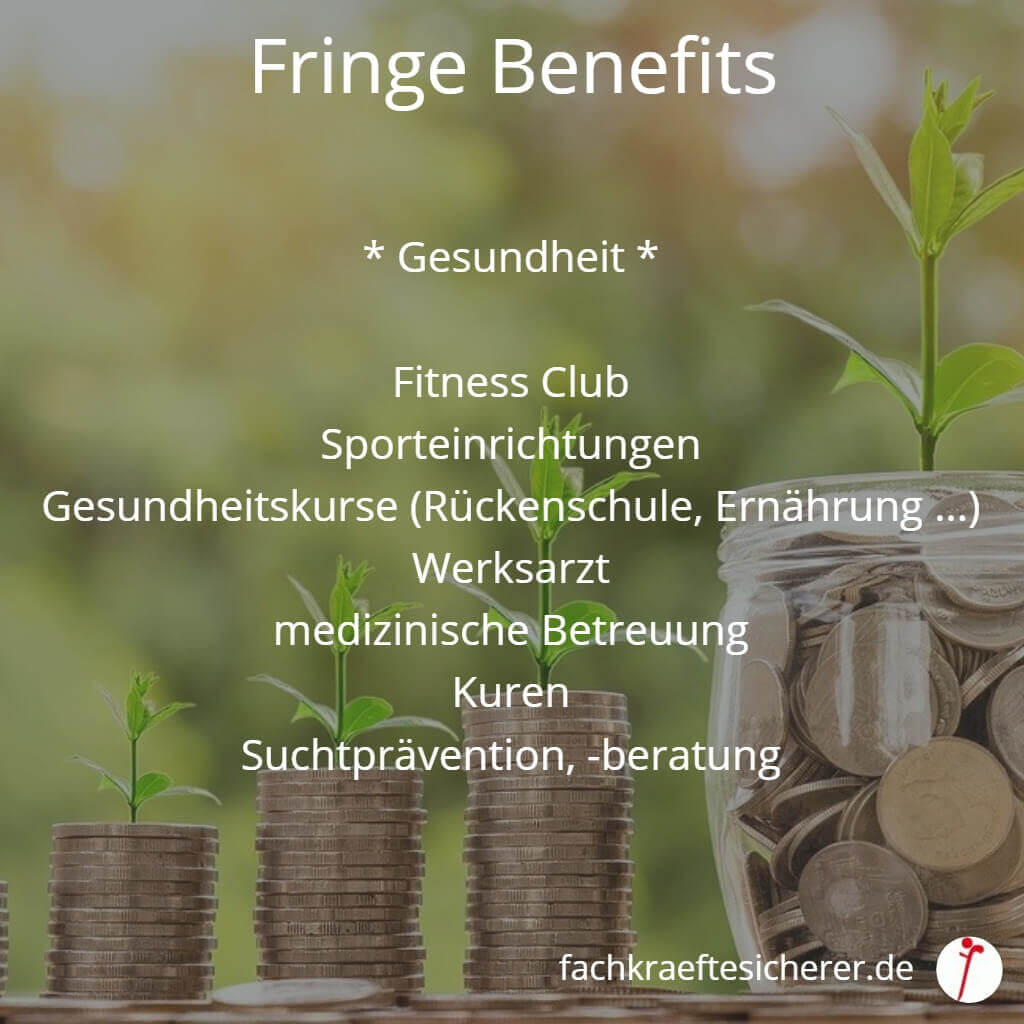 Beispiele Fringe Benefits Gesundheit