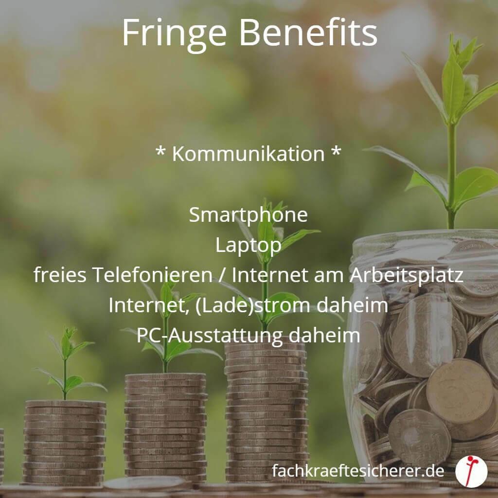 Beispiele Fringe Benefits Kommunikation