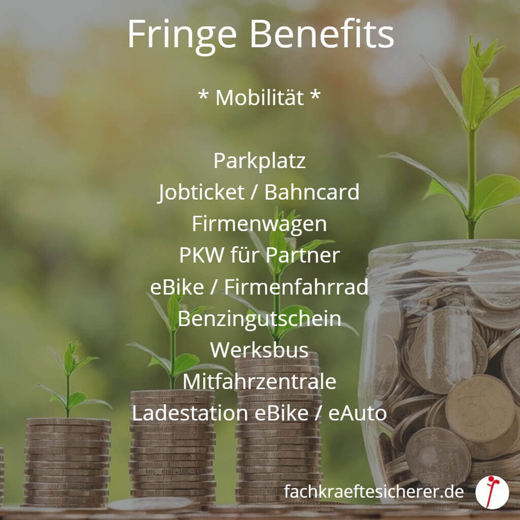Beispiele Fringe Benefits Mobilität
