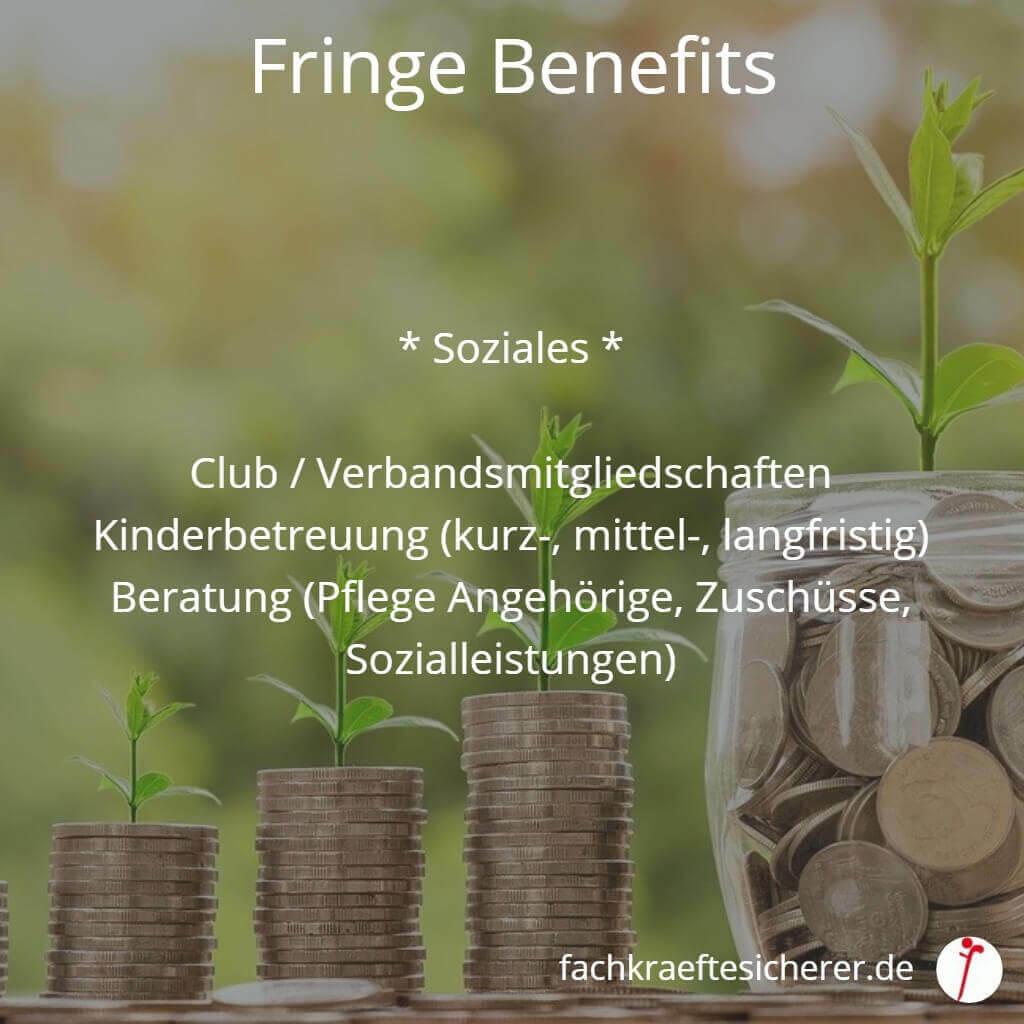 Beispiele Fringe Benefits Soziales