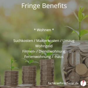 Beispiele Fringe Benefits wohnen