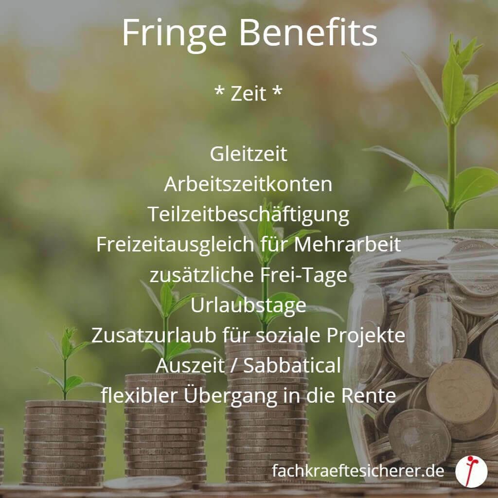 Beispiele Fringe Benefits Zeit