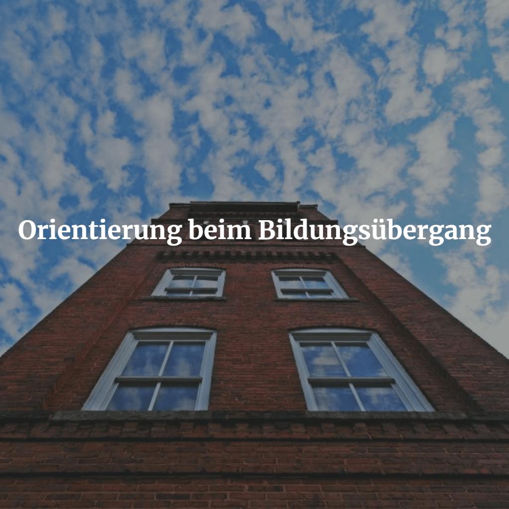 Vortrag Orientierung beim Bildungsübergang